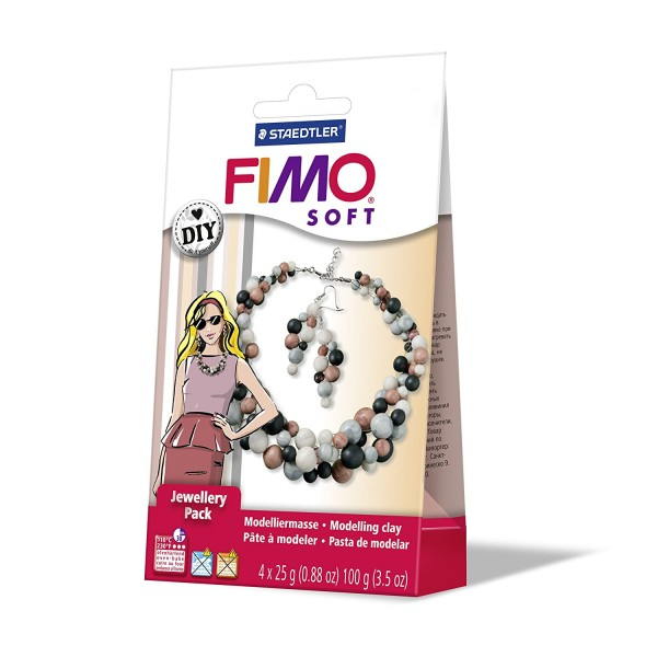Staedtler Fimo soft Schmuckset Pearl 4 Blöcke a 25 g