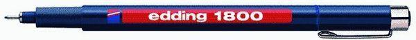 edding 1800 Faserzeichner Profipen, blau, 0.5mm