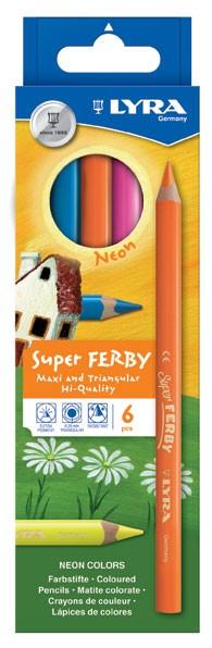 Farbstift Super FERBY®, dreiflächig, neon Kartonetui mit 6 Stück