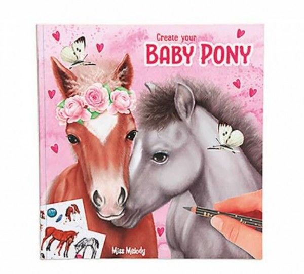 Miss Melody Malbuch Create your Baby Pony