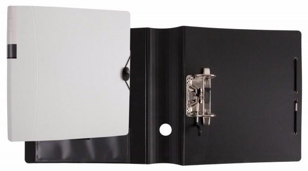 Idena Ringbuch A4, runder Rücken,2 Ringe Rückenbreite 75mm,Ordner weiß