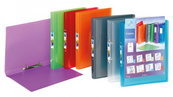 Präsentationsringbuch PROPYGLASS® Viquel A4 Ringbuch sortiert