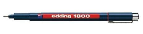 edding 1800 Faserzeichner Profipen, rot, 0.7mm