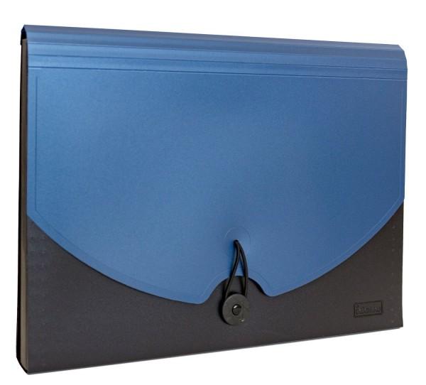 Idena Faechermappe Aufbewahrung Fächer Mappe A4 blau schwarz
