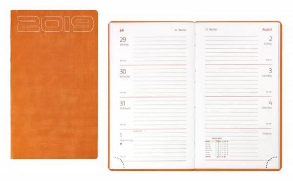 Idena Ladytimer FSC-Mix 2019, Unicolor orange Terminkalender