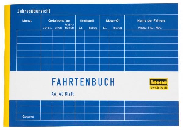 Idena Fahrtenbuch A6 quer, 40 Blatt