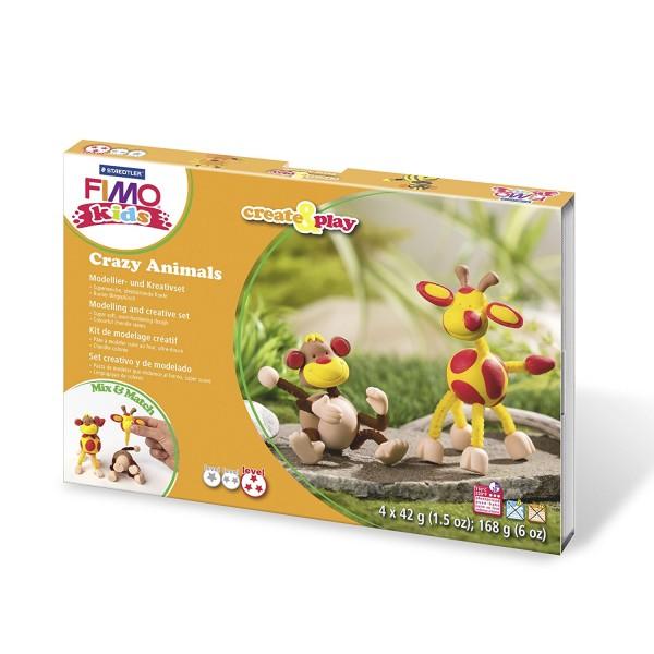 Staedtler Moddelier Masse Fimo kids Monkey Set Giraffe Knete