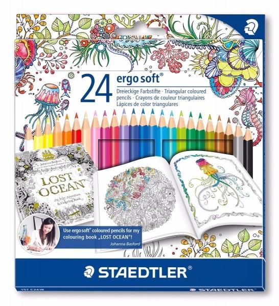 STAEDTLER ergosoft Buntstifte Farbstifte 24 er Johanna Basford Edition ergo soft