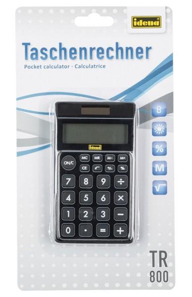 Idena 505126 - Taschenrechner TR 800 solar schwarz