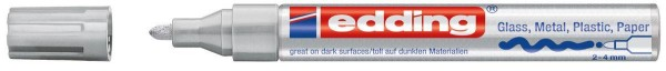 Edding 750 - Glanzlack-Marker creative, 2-4mm, silber