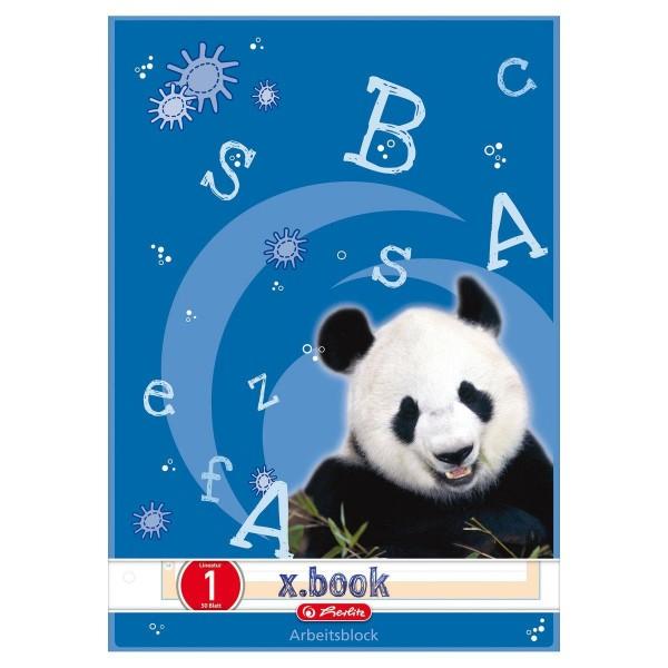 herlitz x.book Arbeitsblock, A4, Lineatur 01, 50 Blatt