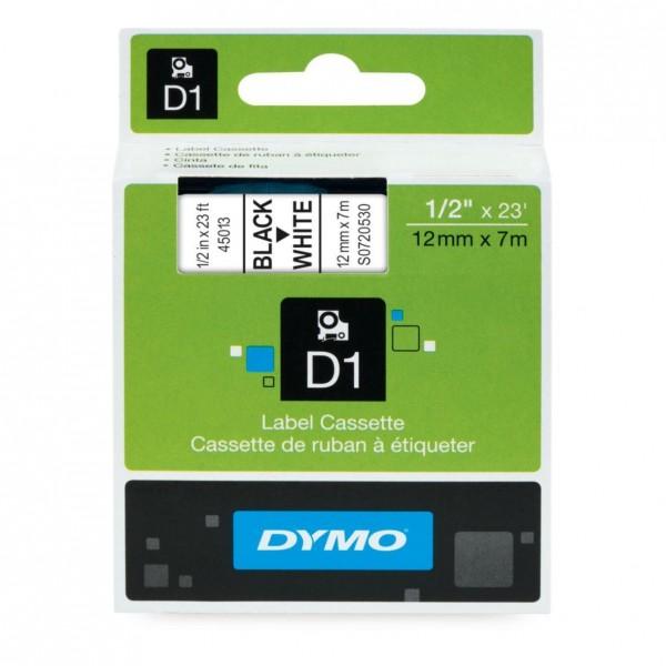 DYMO® D1 Schriftband, schwarz auf weiß,