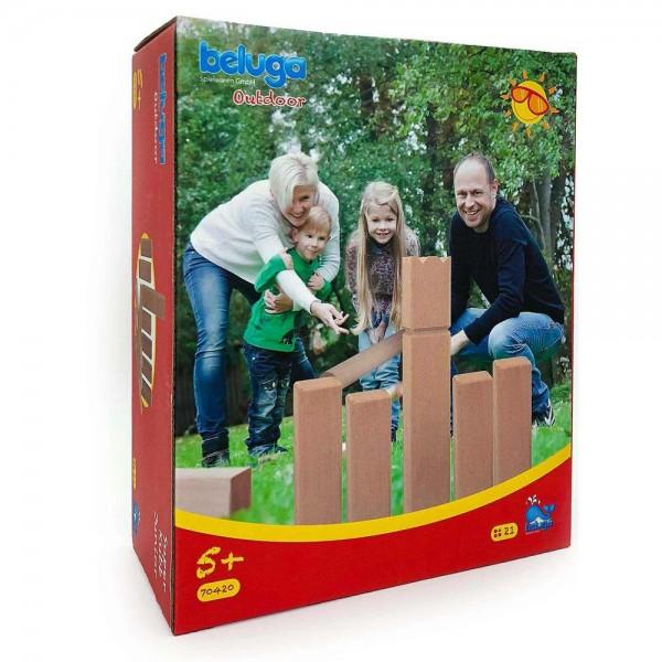 Super Kubb Wurfspiel Spiel für draußen klein