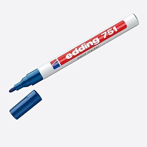 Edding 751 - Glanzlack-Marker creative, 1-2mm, blau