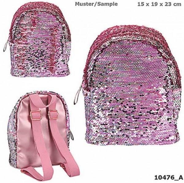TopModel kleiner Rucksack rosa Streichpailletten rose