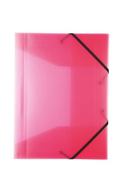 Idena Gummizugmappe A3 PP, transluzent pink