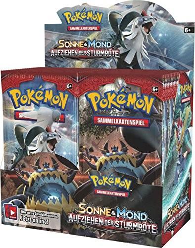 Pokemon Sonne und Mond Serie 4 Aufziehen der Sturmröte Booster Deutsch