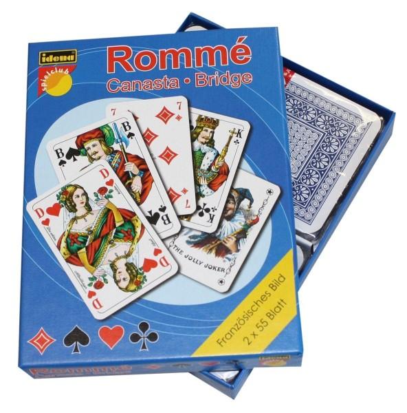 Idena Romme in Stülpsch. 2x55 Blatt, französisches Bild Kartenspie
