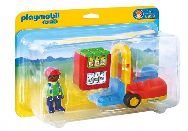 PLAYMOBIL 6959 -1 2 3 - Gabelstapler