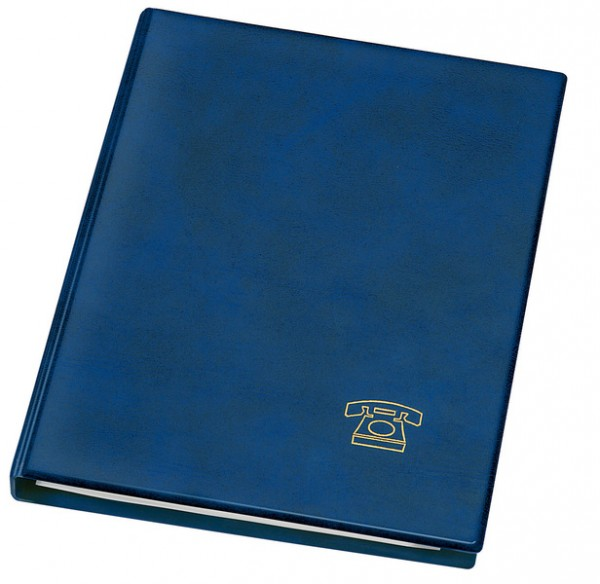 TELEFONRINGBUCH VELOFLEX Telefonbuch A5 blau