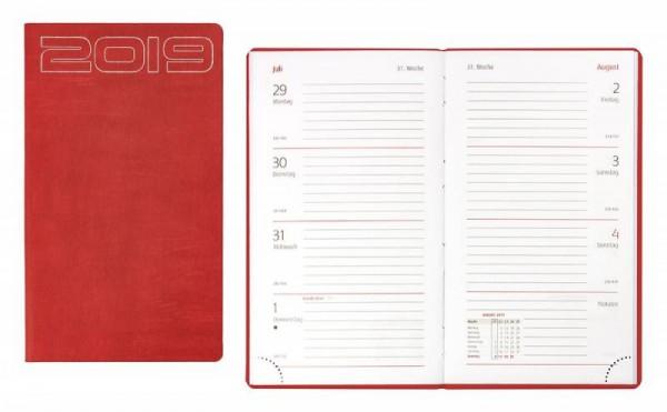 Idena Ladytimer FSC-Mix 2019, Unicolor rot Terminkalender