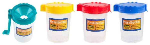 Idena Pinselbecher mit Deckel Schule Tusch Becher