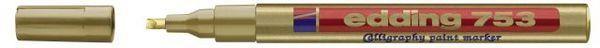 Edding 753 - Glanzlackmarker, 1-2.5mm, gold