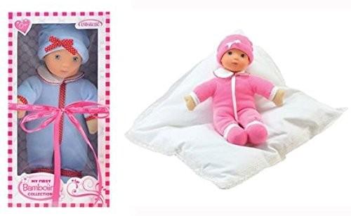 Puppe Anna 34cm Samt, blau oder pink sortiert