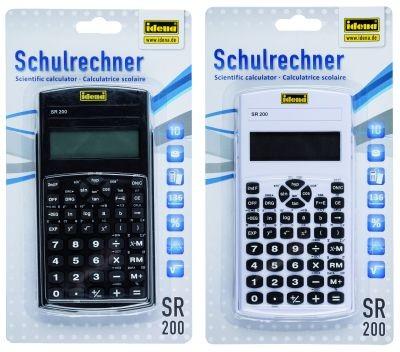 Idena Schulrechner Taschenrechner SR200