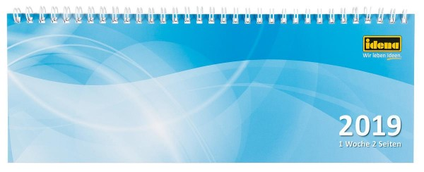 Idena Schreibtischkalender, 287 x 100, 1W/ 2S
