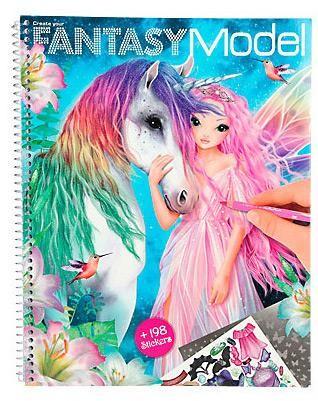 Depesche Malbuch Create your Fantasy Model, mit Stickern