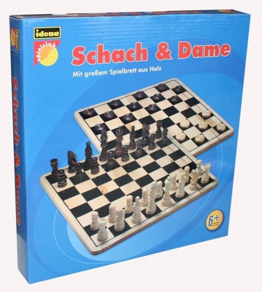 Idena Schach & Dame Spiel Holz