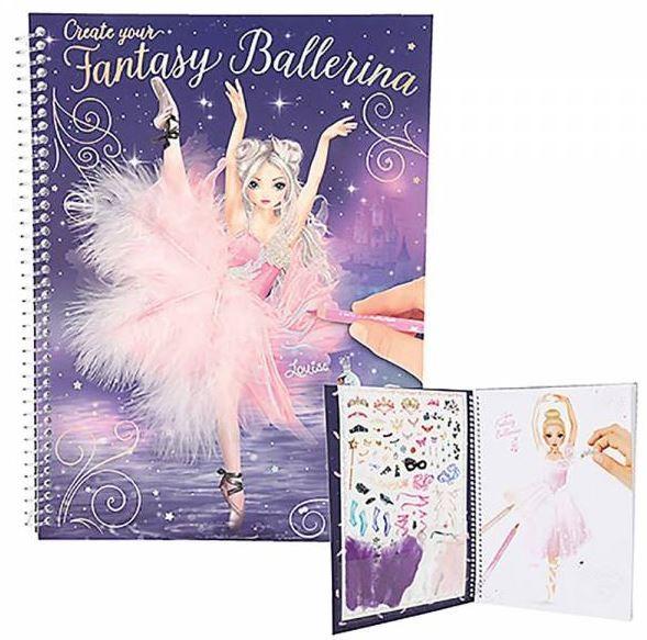 Create your Fantasy Ballerina Top Model Malbuch m. Stickern