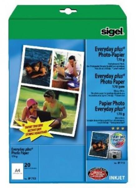 Sigel Fotopapier A4 170g/qm 20 Blatt glossy