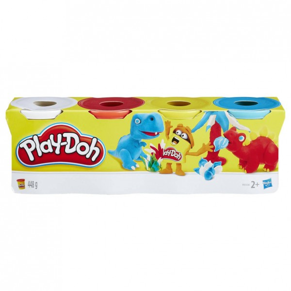 Play Doh Knete 4er Packung  sortiert Knetmasse
