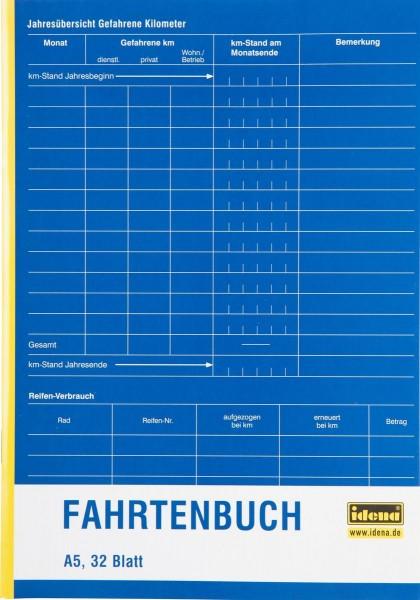 Idena Fahrtenbuch A5 32 Blatt