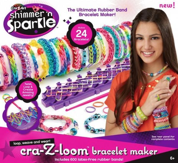 Boti 33190 - Cra-Z-Loom Shimmer n' Sparkle Bracelet Maker Kommplettset