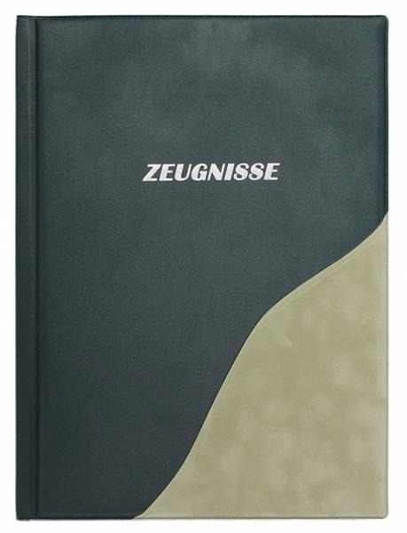 Idena Zeugnismappe, A4, 12 Hüllen, Metallic grün