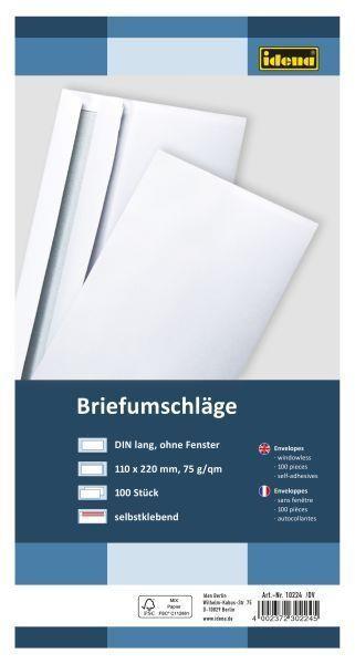 Briefumschläge ohne Fenster 100 Stück