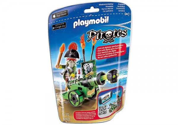 PLAYMOBIL 6162 - Grüne App-Kanone mit Piratenkapitän Piraten