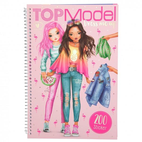 Depesche 10031 Top Model Dress me up Tropica Stickerbuch