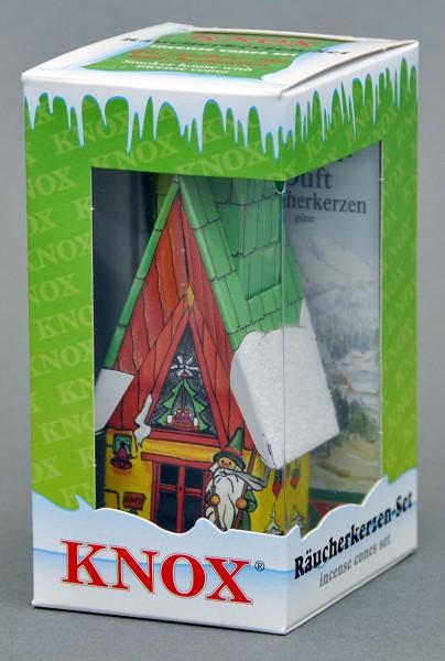 Räucher-Set Hütte -11,5 cm mit Tanne