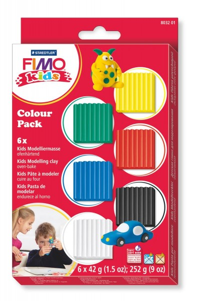 STAEDTLER FIMO®® kids Modelliermasse colour Pack basic