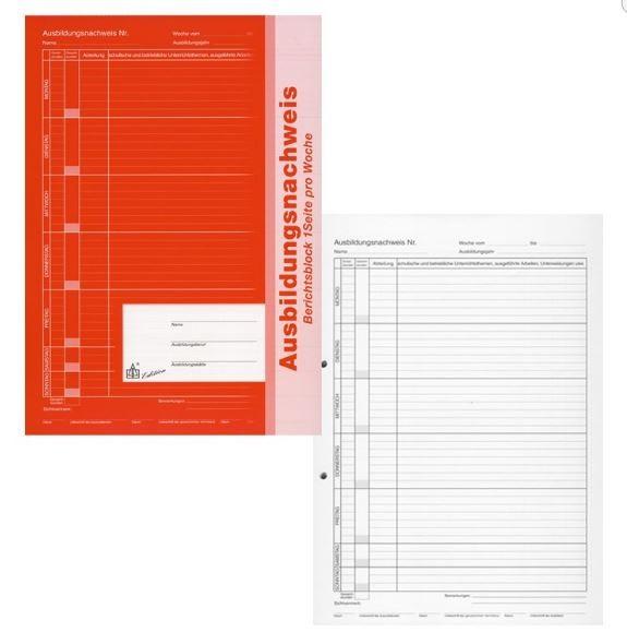 Roth 96104 Ausbildungsnachweis Berichtsblock, 1 Seite pro Woche