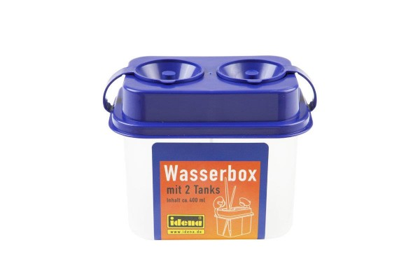 Idena Wasserbox mit 2 Tanks und Sicherheitsverschluss, farblich sortiert