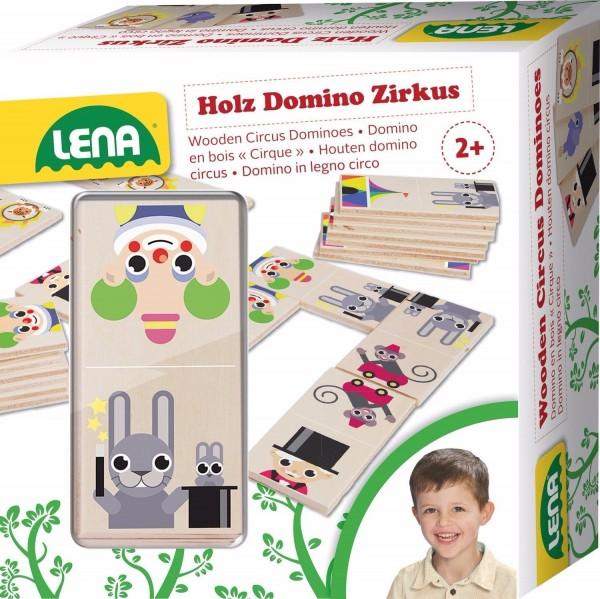 Lena 32167 - Holzspielzeug Domino Zirkus aus 100% FSC Holz