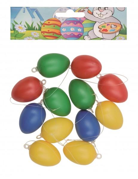Idena Kunststoffeier 12er Oster - Eier 4cm