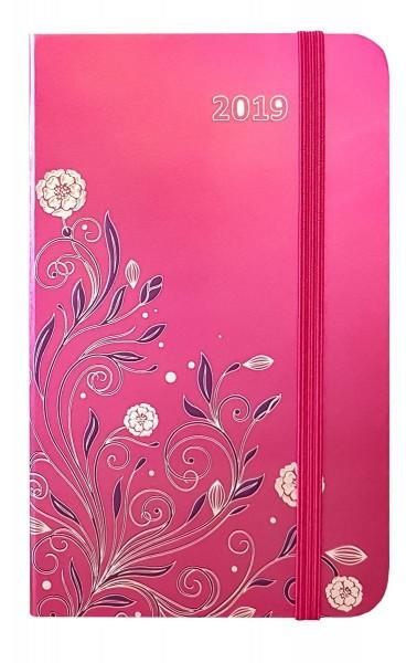 Idena Agenda 2019, Hardcover, Flower Pink