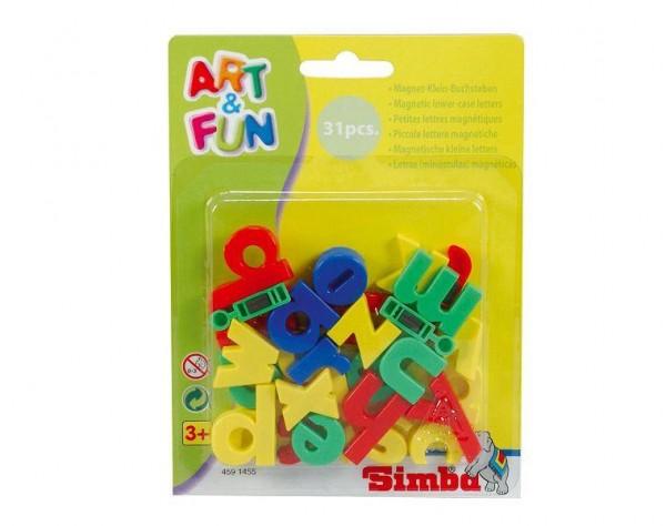 Simba Art & Fun Magnet-Kleinbuchstaben, 31 Teile