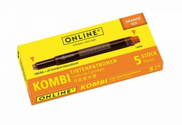 Online Kombipatrone orange 5 Stück  Tintenpatronen